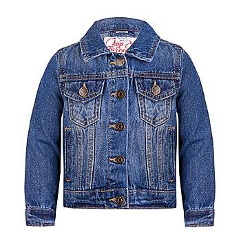 odzież typu duch na białym tle - zdjęcie packshot kurtki jeansowej